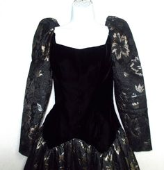 Vintage Victor Costa gown dress 6 s xs  Halloween by Veryfinefinds
