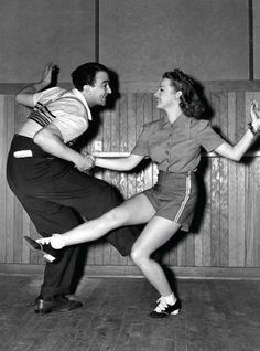 Judy Garland in rehearsal.
