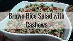 This colourful Brown Rice Salad with Cashews salad is always a HUGE hit. The balance of flavors with the sweetness of the currants and the saltiness of the soy, combined with the distinctive sunflower oil and crunch of the nuts is sensational.Continue reading