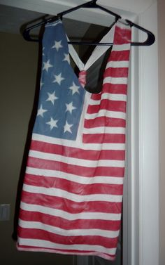 Fourth of July DIY Flag Shirt pretty cool for the girls to do