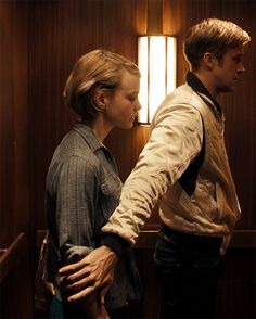Drive (2011) Elevator scene, Seconds before 'The Kiss' *sigh*/ Dont really like the movie that much, but I loved this scene.