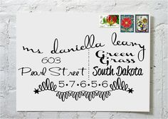 The Danielle Dashingly Chic Calligraphy Envelope von ilulily