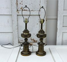 Large Brass Stiffel Lamps Pair Vintage Chic By by FooFooLaLaChild