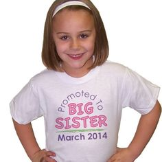 Personalized Big Sister T-Shirt - Gifts Happen Here