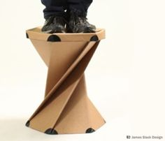 Ori cardboard furniture by James Slack Cardboard Chair, Diy Cardboard Furniture, Cardboard Recycling, Cardboard Design, Paper Furniture, Cardboard Sculpture, Cardboard Paper, Cardboard Crafts, Furniture Making
