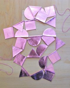 Pink Metallic Leather Garland by The Six Week Boutique