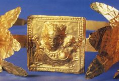 Gold wreath with image of Aphrodite Ourania with the sceptre and Eros (From Gorgippia, 2nd—mid-3rd cent. CE. Krasnodar, Museum of History and Archaeology)