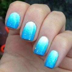 """Instagram photo by __instanails__ #nail #nails #nailart #""""acrylicnailartdesignsshort"""" Fingernail Designs, Blue Nail Designs, Acrylic Nail Designs, Fancy Nails, Pretty Nails, Vacation Nails, Dipped Nails, Prom Nails, Nail Polish Art"""