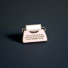 Image of Enamel Typewriter Pin