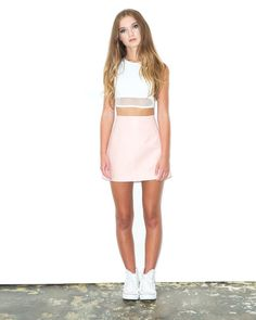 Get peachy this summer wearing this cute leather skirt! Rock it with our Gnarly…