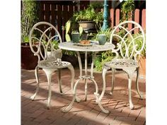 Christopher Knight Home Anacapa 3-Piece Bistro Set - Off-White