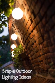 SImple outdoor lighting ideas