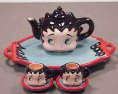 Betty Boop tea set