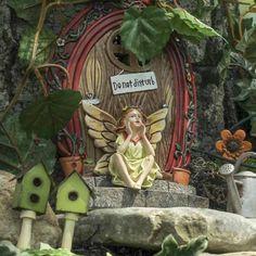 """""""Do Not Disturb"""" Fairy Garden Door - Miniatures - View All - Dollhouse Miniatures - Doll Making Supplies - Craft Supplies"""