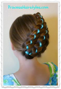 Stacked Ribbon Braid Updo #Easter