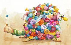 Text by Paula Merlán Nube Ocho 2016 · Spanish and English Edition Buy a book Whimsical Art, Case, Tortoise, Spanish, Cartoons, Illustration Art, Germany, English, Book
