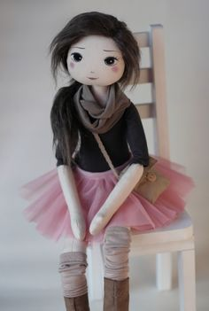 RomaSzop Cloth Doll. I really want to get my daughter one for her birthday.