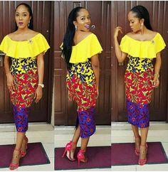 Amarillo Vestido de Yana Midi con el detalle del por Zizibespoke