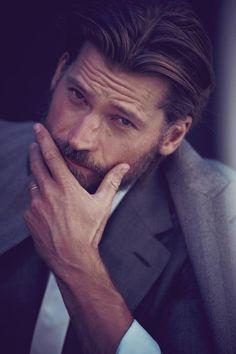 Nikolaj Coster-Waldau for Vanity Fair Magazine 2013 . Moustaches, Handsome Bearded Men, Nikolaj Coster Waldau, Tim Roth, Jaime Lannister, Charming Man, Modern Man, Film, Gq