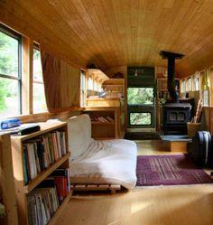 A wood burning stove!?!? The Nomadic Nester: Camper Vans and Caravans