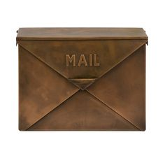 VINTAGE STYLE Copper ENVELOPE Wall Mount MAILBOX Mail Box NEW