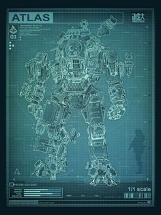 Collector's Edition Schematic Poster - Titanfall