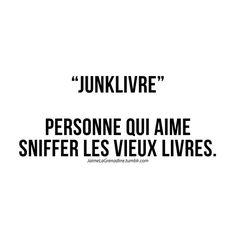 """""""Junklivre"""" Personne qui aime sniffer les vieux livres - #JaimeLaGrenadine"""