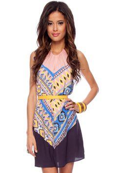 Eva Print Halter Dress