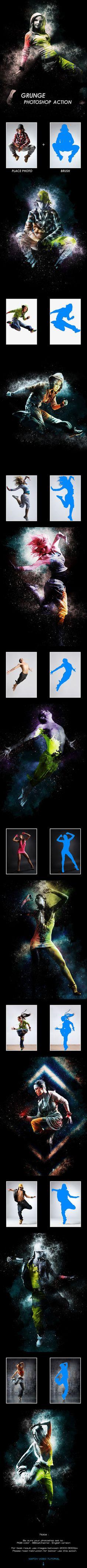 Grunge - Photoshop Action #photoeffect Download: http://graphicriver.net/item/grunge-photoshop-action/13697691?ref=ksioks