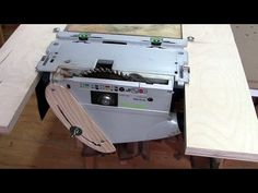 ⚙ DIY table saw - track saw upside down - YouTube