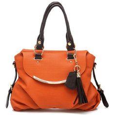 Wisedeal 1pc Fashion Elegent Noble and Luxury Tassel Style PU Leather Luxury Women Lady girl message shopper Hobo Tote shoulder bag purse satchel Handbag