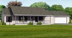 House Plan 70123 | Traditional Plan with 1400 Sq. Ft., 3 Bedrooms, 2 Bathrooms, 2 Car Garage