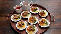 Bánh Bèo Steamed Rice Cake, Rice Cakes, Seafood Stuffed Shells, Masterchef Recipes, Vietnamese Recipes, Vietnamese Food, Mung Bean, Bean Paste, Fried Onions