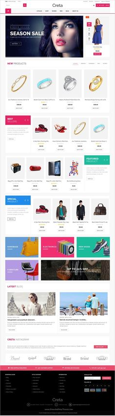 Creata is a wonderful #Shopify #theme for multipurpose #eCommerce website