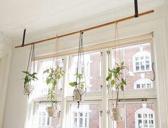 DIY - Læder loftophæng til planter