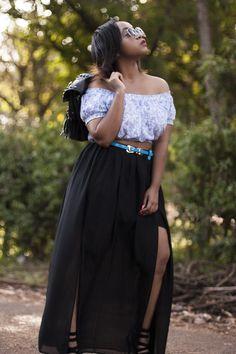 ~Black dice- Blue Dice  #joliethrone #fashionblogher #kenyanblogger #ootd #styleinspo #fashion #style #chic #badandboujee #highwaist #offshouder #curvystyle #classy #maxiskirt #vsco #detail #thighhigh Bad And Boujee, Dice, Curvy Fashion, Thigh Highs, Personal Style, Ootd, Classy, Detail, My Style