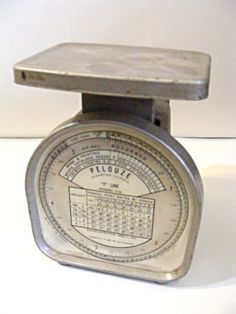 Vintage postal scale from 1956 by ScribbleFitz on Etsy, $40.00