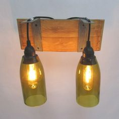 Clever company that upcycles glass bottles. This would be great in a wine cellar.