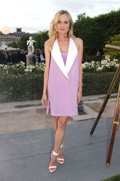 Lavender Off Your Shoulder / Diane Kruger, Berluti Menswear Spring 2013 Show, Paris (2012)