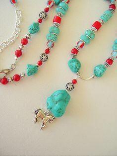 Boho Southwest Necklace Cowgirl Jewelry by BohoStyleMe