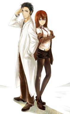 Okabe and Kurisu | Steins;Gate