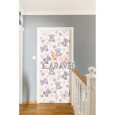 Παιδικό Αυτοκόλλητο Πόρτας με αρκουδάκια Curtains, Quilts, Shower, Blanket, Bed, Home Decor, Rain Shower Heads, Blinds, Decoration Home