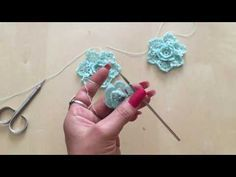 Tutorial Flor#4crochet paso a paso - YouTube