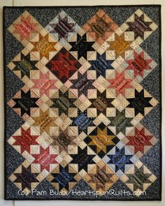 Heartspun Quilts ~ Pam Buda: Introducing Star Strings in Primitive Quilts Magazine!