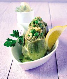 Cocina Ligera. Alcachofas con champiñones y guisantes