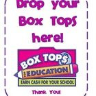 The is a free label to use on a box or envelope for storing box tops.  Give to each teacher for their classroom collections