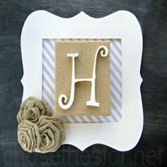 Simple Monogram Plaque Craft from @chasethestar