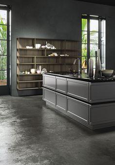 Detail of classic kitchens Snaidero - Italian design Home Design, Luxury Kitchen Design, Interior Design Kitchen, Kitchen Cabinetry, Kitchen Shelves, Home Renovation, Island Design, Cuisines Design, Interior Design Inspiration
