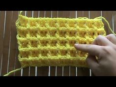 waffle stitch, there are actually four video tutorials, but I like this image to remind me of what exactly the stitch looks like