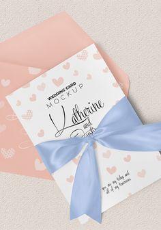 Gorgeous wedding card mockup is here. #free #freebie #mockup #psd #photoshop #invitation #greeting #stationery #branding #presentation